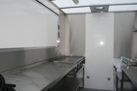 Typical interior of Burger Van for hire